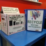 Pen and battery collections at Churchfields Junior School