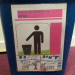 Labelled Recycling bins at Churchfields Juniors