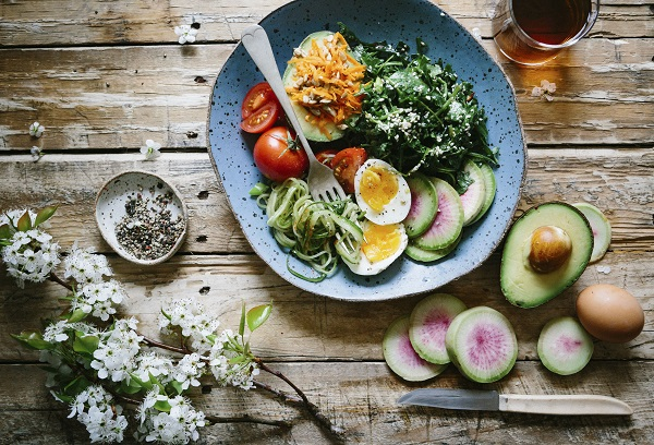 Vegetarian salad meal