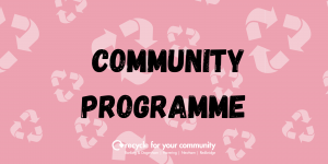 Community programme tab for web