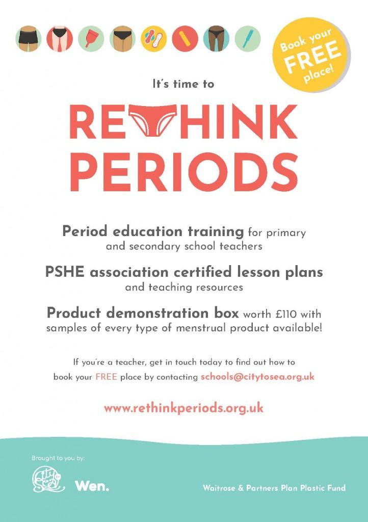 Rethink Periods postcard